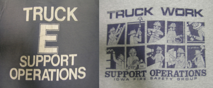 T-Shirts from the early days of FSO emphasized the connection between truck companies and the support operations role,